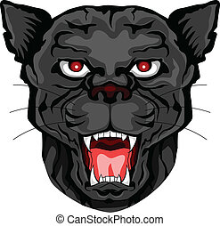 panther head tattoo tribal