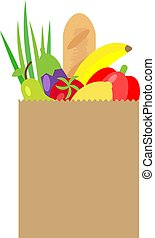 Vector illustration of paper package