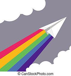 vector illustration of Paper plane