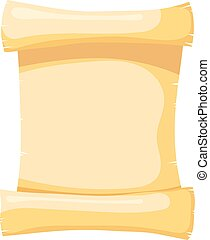 Vector illustration of papyrus on a white background. Isolated object. Cartoon style. Abstract
