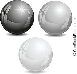 Vector illustration of pearls.