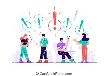 Vector illustration of people communication