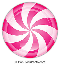 illustration of peppermint candy - Vector illustration of ...