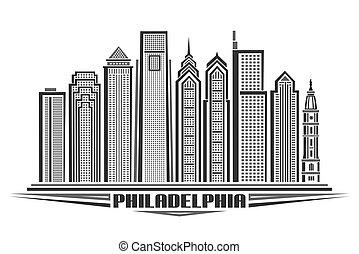 Vector illustration of Philadelphia