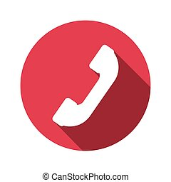 vector illustration of phone receiver flat design icon
