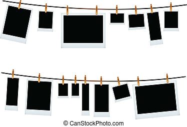 vector illustration of photo frame set