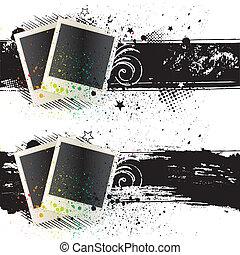 vector illustration of photo frames