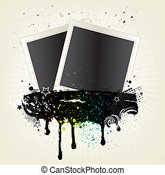 vector illustration of photo frames