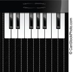 Vector illustration of piano keys