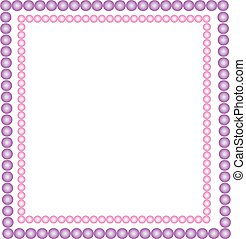 Vector illustration of pink and purple beads