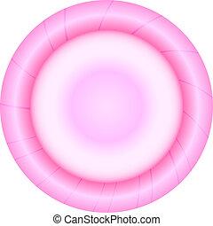 Vector illustration of pink condom