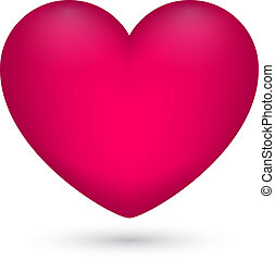 Vector illustration of pink heart on white background for Valentine s Day.