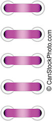 Vector illustration of pink lacing