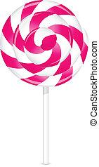 pink lollipop - Vector illustration of pink lollipop