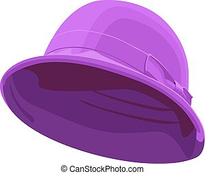 vector illustration of pink womens hat isolated on white background.