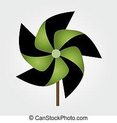 Vector illustration of pinwheel toy