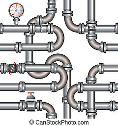 pipeline seamless pattern - Vector illustration of pipeline...