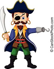 pirate cartoon posing