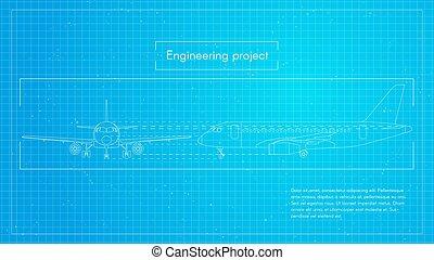 Engineering blueprint machine engineering word on machine blueprint engineering aircraft blueprint background malvernweather Gallery