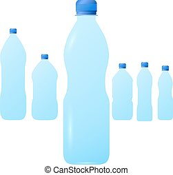 Vector illustration of plastic bottles