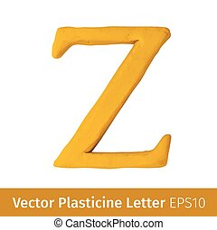 Vector illustration of Plasticine letters  english alphabet.