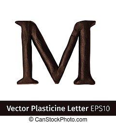 Vector illustration of Plasticine letters  english alphabet.