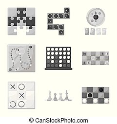 Vector illustration of play and luck icon. Set of play and competition stock symbol for web.