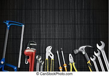 Plumber tools icon set