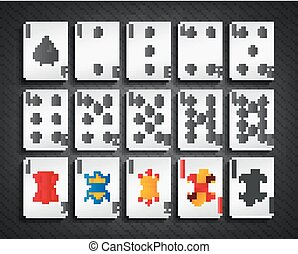 Poker cards spade set