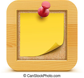 post it note - Vector illustration of post it note in on the...