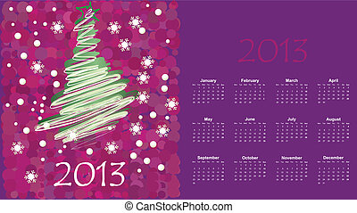 calendar to a new 2012 year
