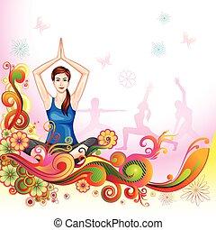 International Yoga Day - vector illustration of poster...