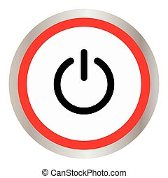 Vector illustration of power button