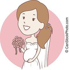 Pregnant Bride Icon
