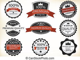Premium Quality and Guarantee Label
