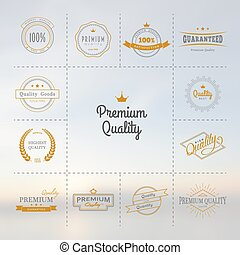 Vector illustration of Premium quality labels set