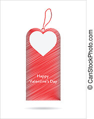 Vector illustration of price tag with Valentine's Day design