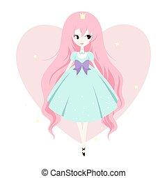 Vector illustration of princess.