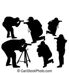 professional photographers - Vector illustration of...