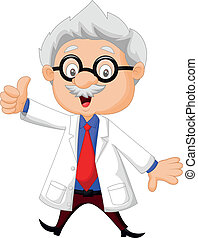 Professor cartoon thumb up