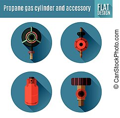 propane gas cylinder and accessory