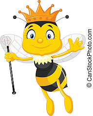 Queen bee cartoon - Vector illustration of Queen bee cartoon