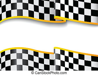 Vector illustration of Race background. Checkered black and white