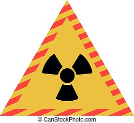 Vector illustration of radiation sign. Radiation sign signs and symbols.