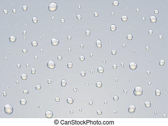 Rain drops - Vector illustration of Rain drops on a window.