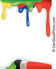 Rainbow Paint Background with Paint
