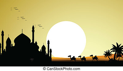 ramadan kareem background - vector illustration of ramadan...