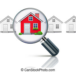 real-estate concept - Vector illustration of real-estate ...
