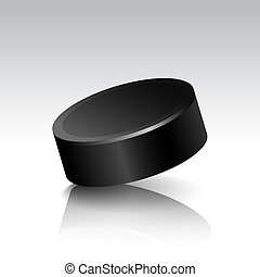 Vector Illustration of Realistic Isolated Hockey Puck