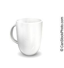 Vector illustration of Realistic Cool tea cup